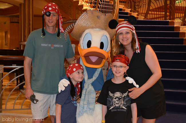 Disney Dream Pirate Night with Donald Duck