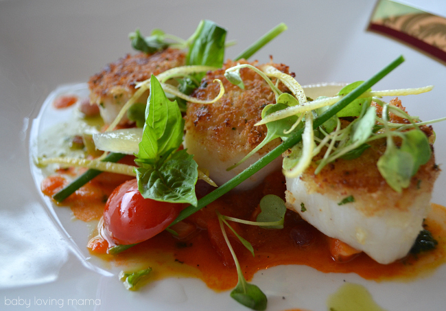 Disney Dream Remy Restaurant Scallops