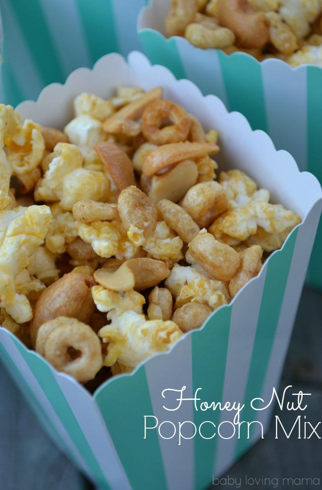 Easy Honey Nut Popcorn Mix Recipe