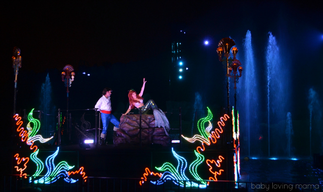 Fantasmic Walt Disney World Hollywood Studios Ariel and Eric Little Mermaid