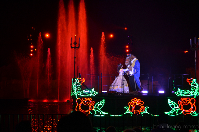 Fantasmic Walt Disney World Hollywood Studios Belle and Beast