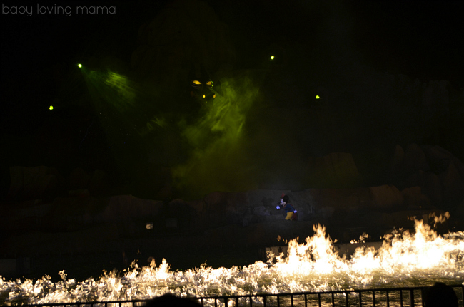 Fantasmic Walt Disney World Hollywood Studios Mickey Mouse with Fire