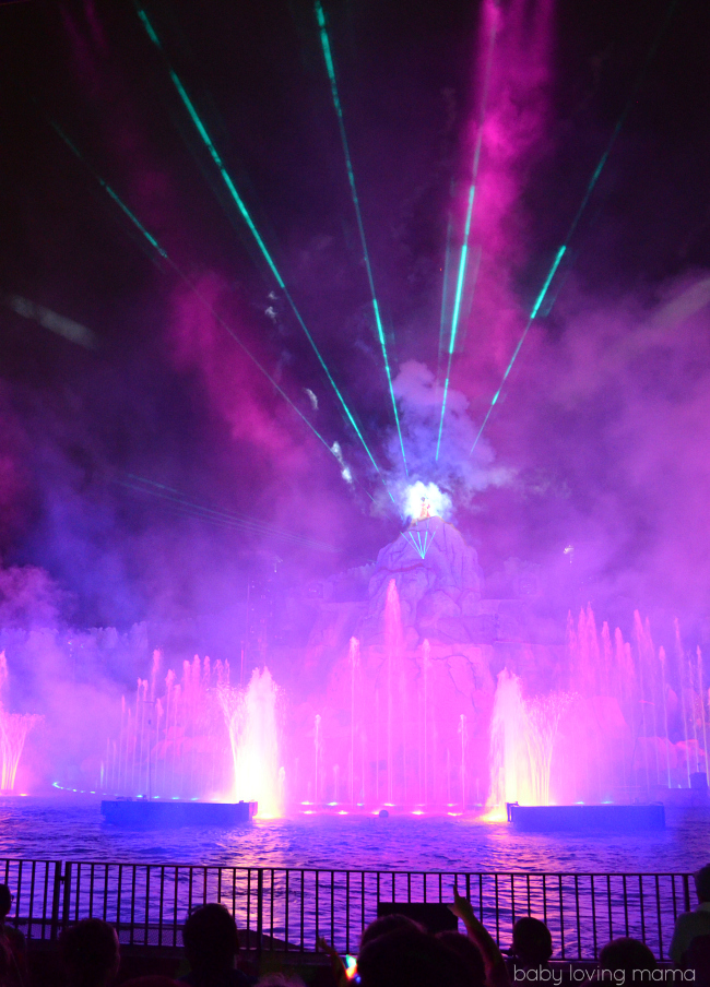 Fantasmic Walt Disney World Hollywood Studios lights