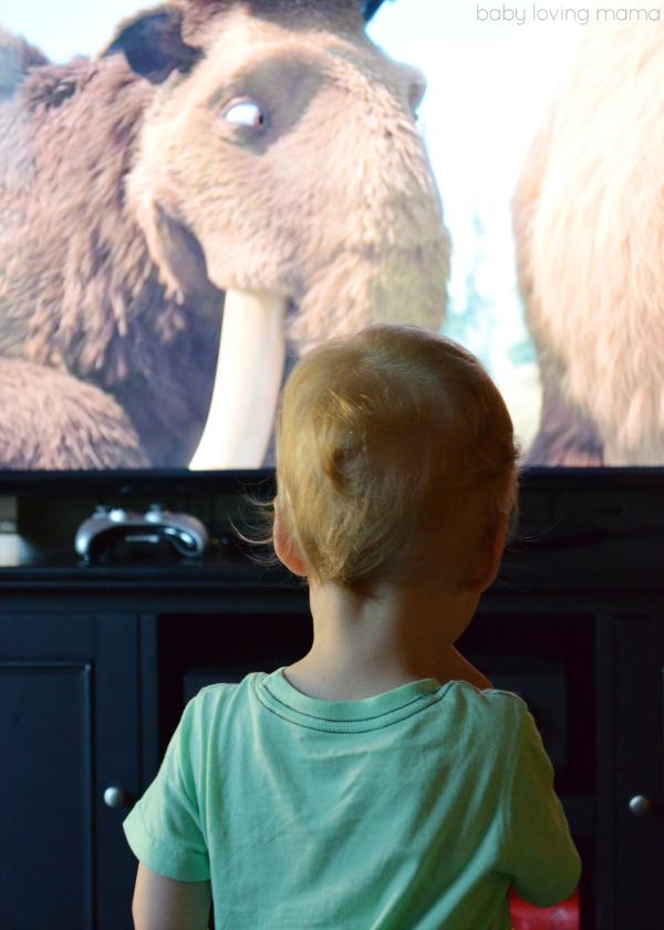 General Mills Movie Night Wes Watching Ice Age 3