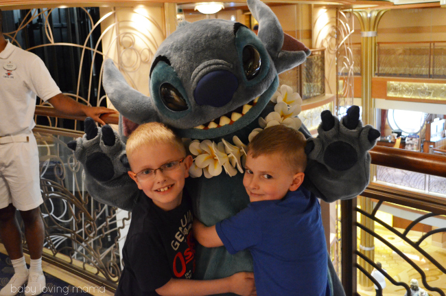 Picture with Stich on Disney Dream Cruise