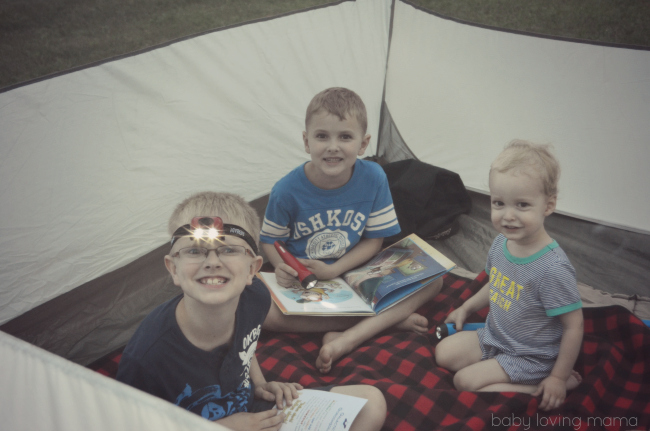 Scholastic Summer Reading Under the Stars with EVEREADY in tent