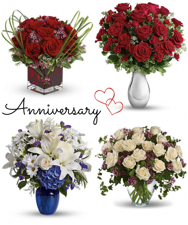 Teleflora Anniversary Bouquet Options