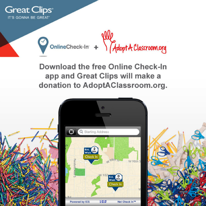 Great Clips Adopt a Classroom App