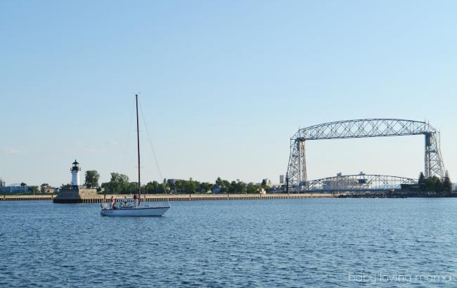 Lake Superior Duluth MN Aerial Lift Bridge