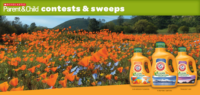 Sensational Memories Arm and Hammer Scholastic Sweepstakes
