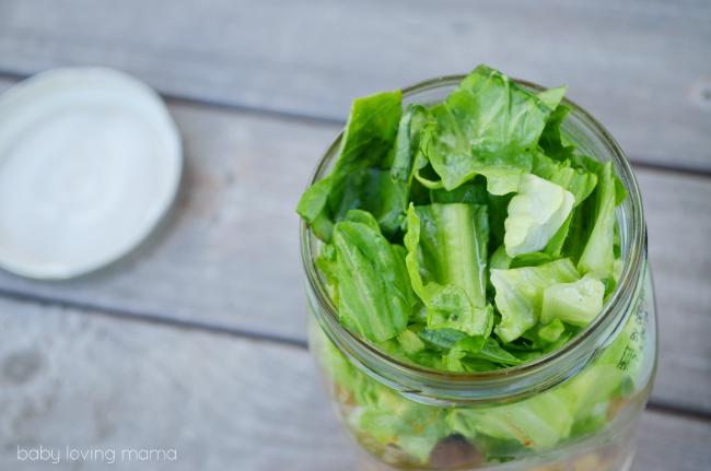 Vlasic Farmers Garden Cheeseburger Salad in a Jar Lid off