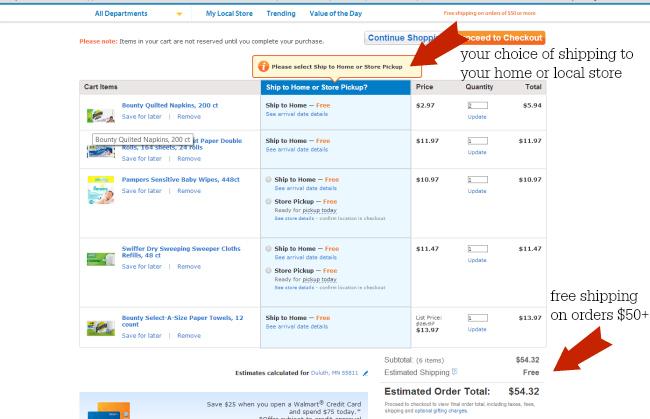 Walmart PG Screenshot checkout first