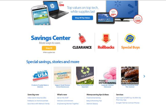 Walmart PG screenshot savings
