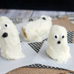 White Chocolate Banana Ghosts for Halloween