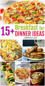 Get 15 breakfast for dinner recipes to wow your family! These high protein breakfast ideas are easy and will fill you up right! From traditional to low carb to vegan, these breakfast recipes will inspire you to enjoy them at dinner time!