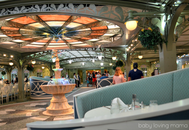 Disney Dream Cruise Enchanted Garden Restaurant