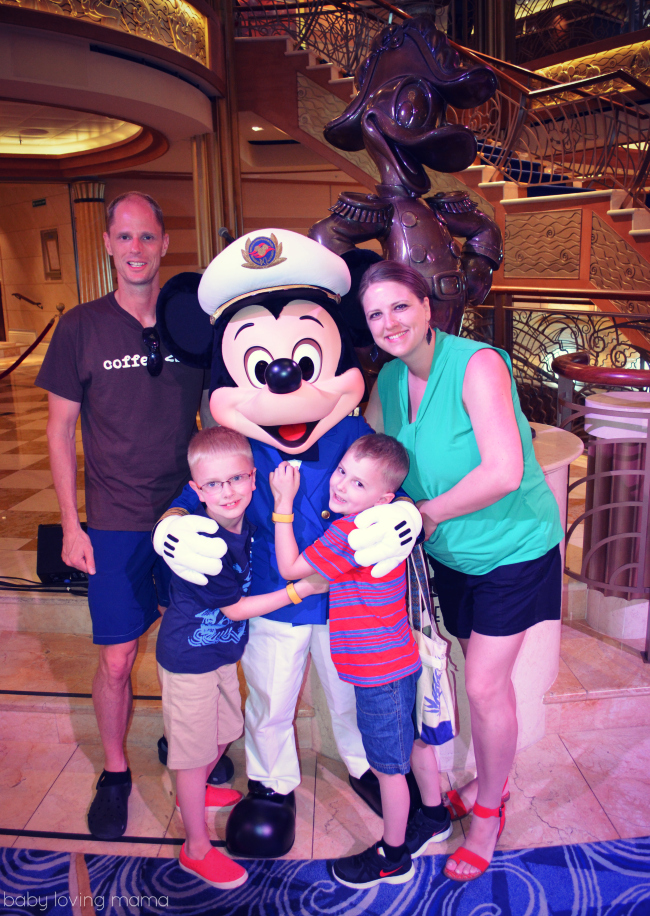 Disney Dream Cruise Ship with Captain Mickey