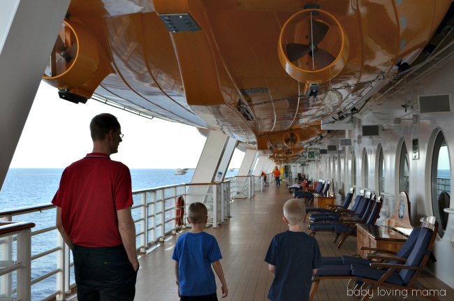 Disney Dream Cruise Walking on Deck