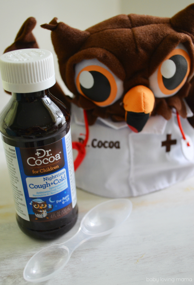 Dr. Cocoa Nighttime Cough and Cold for Children in Chocolate Flavor