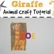 Giraffe Paper Bag Animal Craft for Back to School with Elmer's Early Learners #EarlyLearnersAcademy