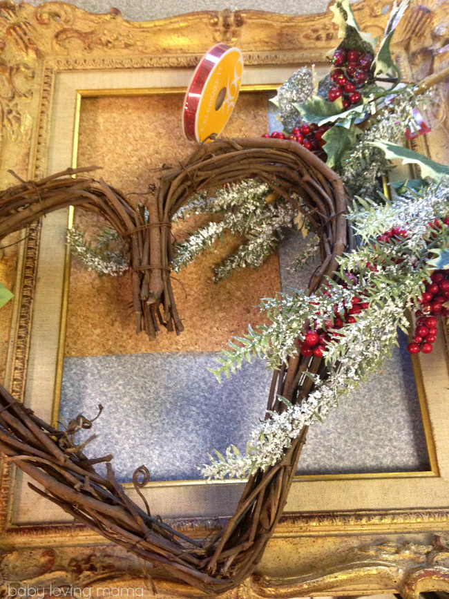 Holiday Heart Wreath Materials