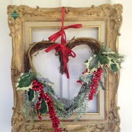 Holiday Heart Wreath with Frame