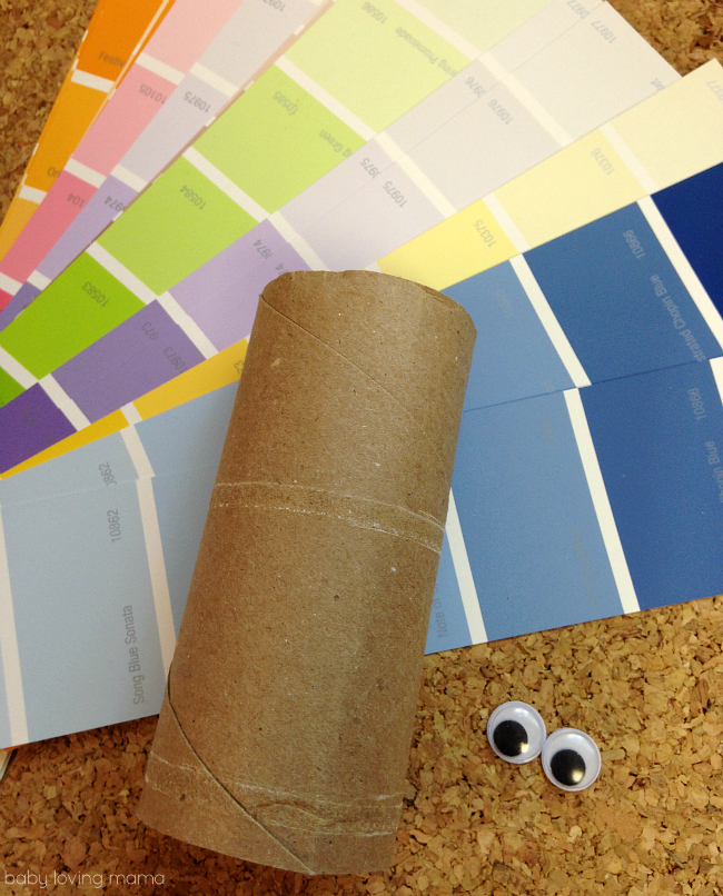 Paint Chip Toilet Paper Roll Turkey Craft Supplies