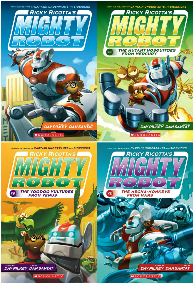 Ricky Ricotta Mighty Robot Book Series