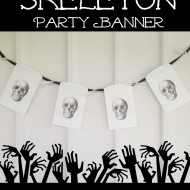 DIY Skeleton Party Banner for Halloween