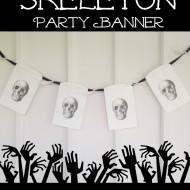 DIY Skeleton Party Banner for Halloween