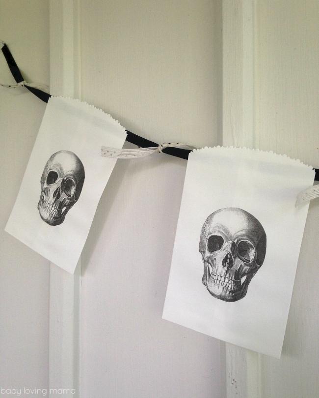 Spooky Skeleton Banner for Halloween