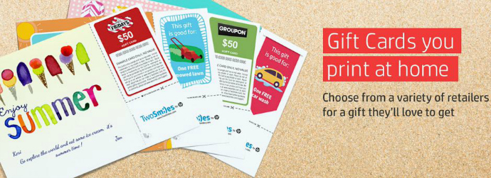 Two Smiles Gift Cards to Print at Home