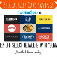 TwoSmiles Discount Code: Print Gift Cards at Home from Major Retailers
