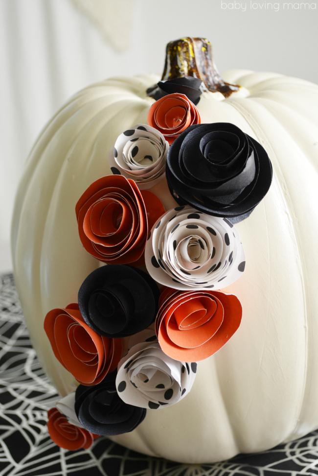 White Pumpkin Decor for Halloween