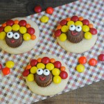 Turkey Sugar Cookies for Thanksgiving