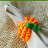 Pumpkin Napkin Rings: Kid Friendly Bead Craft