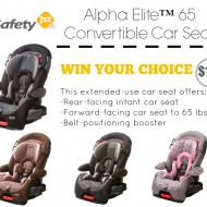 Safety 1st Alpha Elite 65 Convertible Car Seat Offers Advanced Air Protect Technology + GIVEAWAY