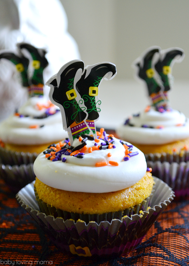 Witch Pumpkin Cupcakes