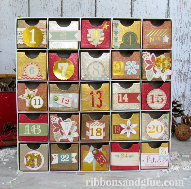 advent-calendar-metallic-ribbons-and-glue