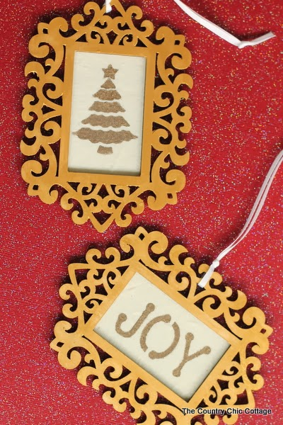 diy gold frame ornaments-country-chic-cottage