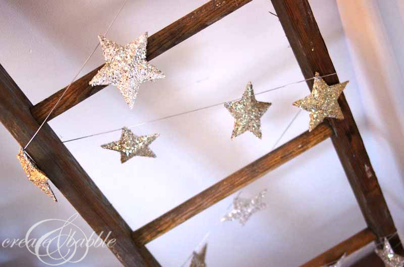 glitter-glass-star-garland-create and babble