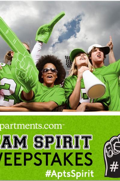 apartments.com team spirit sweepstakes