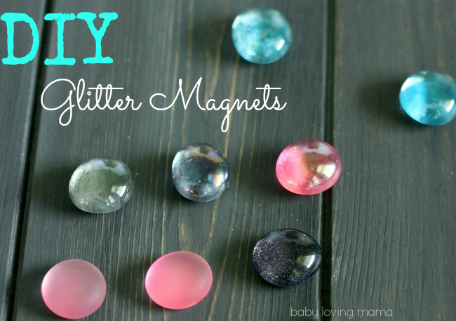 Do it Yourself Glitter Magnet Tutorial