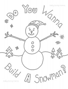 High Quality Coloring Page In A Pdf Format. Epson_FreeDownload_ColoringPage_Snowman_web
