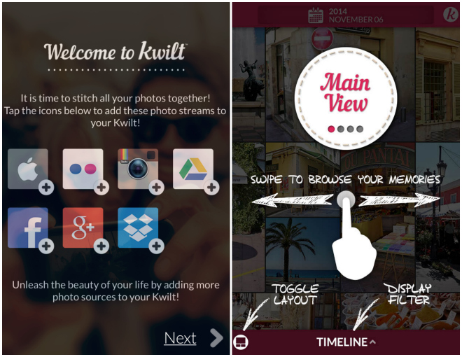 Kwilt Photo App Intro