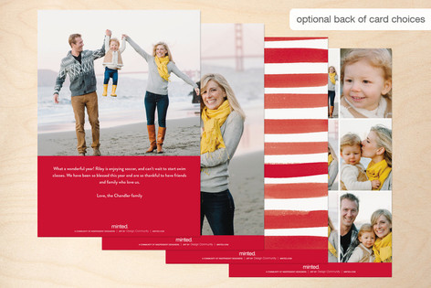 Minted Holiday Photo Card Joy Back