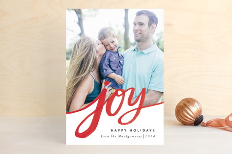 Minted Holiday photo card Joy