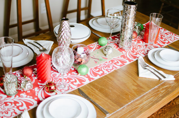 Ooh baby etsy store holiday table runner 1