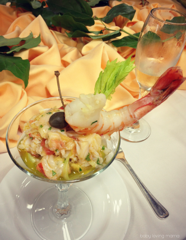 Princess Cruises Chefs Table Lobster and Shrimp Margarita