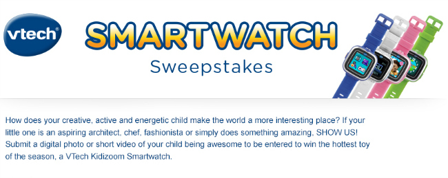 Vtech Smartwatch Sweepstakes